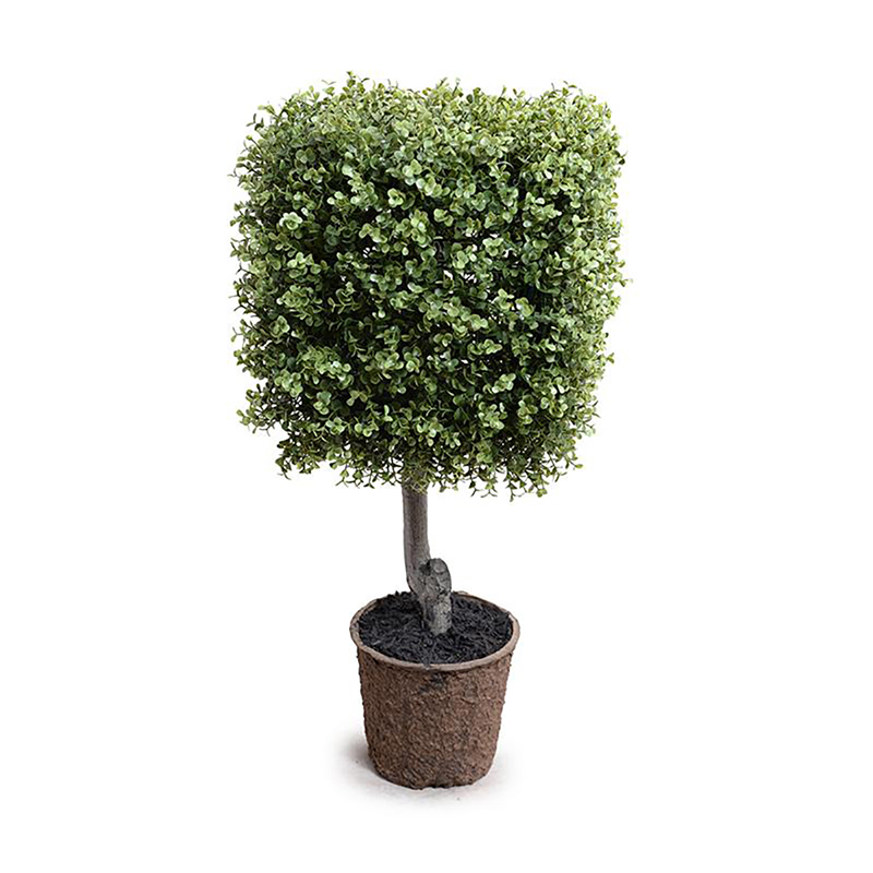 Enduraleaf 31 in Faux Boxwood Square Topiary
