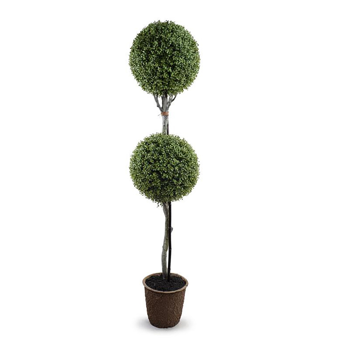 Enduraleaf 70 in Faux Boxwood Double Ball Topiary