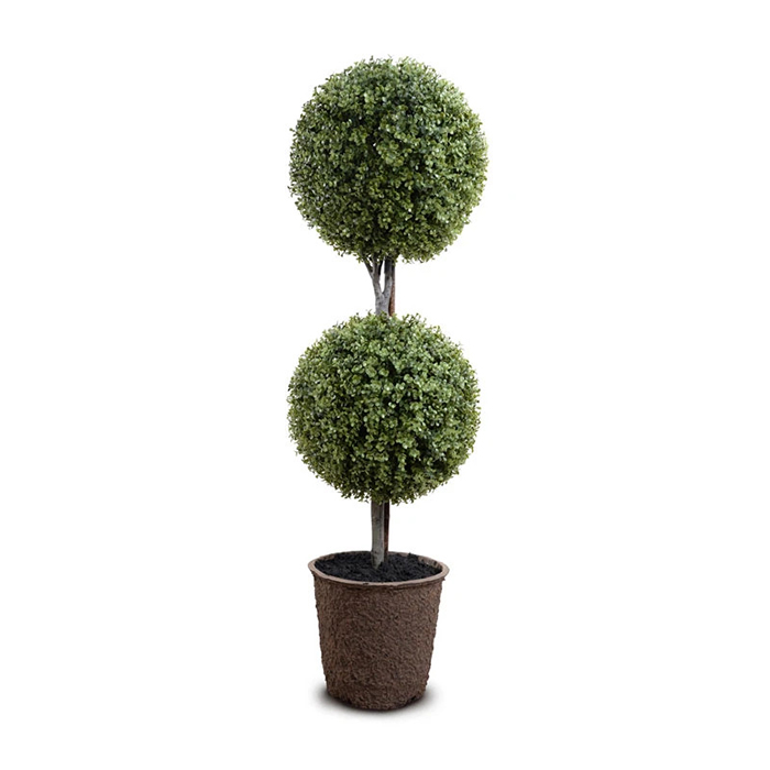 Enduraleaf 54 in Faux Boxwood Double Ball Topiary