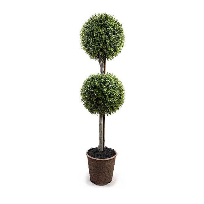 Enduraleaf 50 in Faux Boxwood Double Ball Topiary