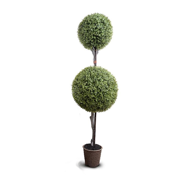 Enduraleaf 72 in Faux Boxwood Double Ball Topiary