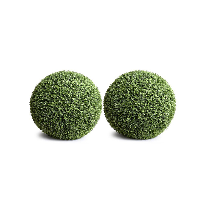 Enduraleaf 15 in Faux Boxwood Ball Set