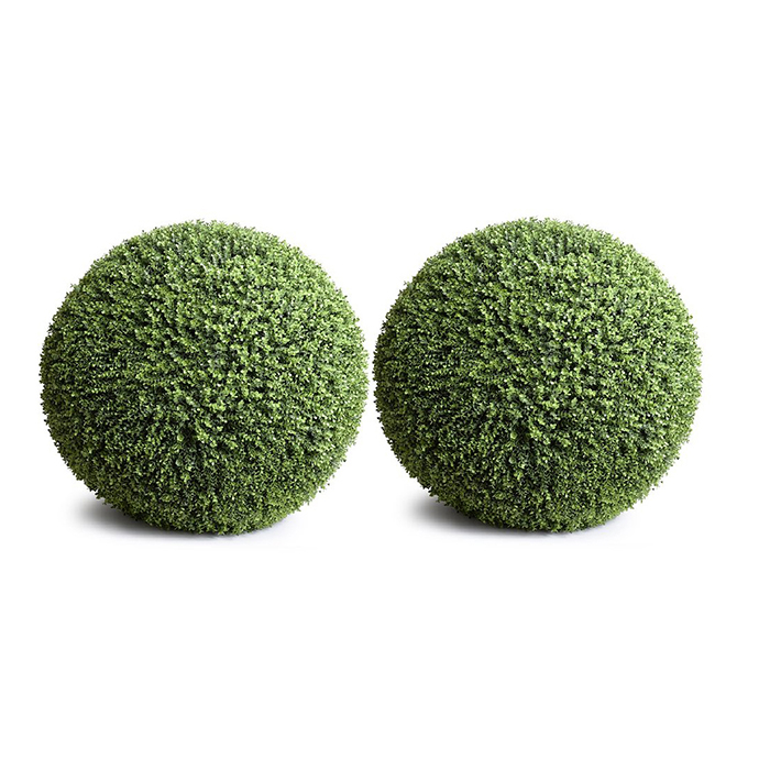 Enduraleaf 22 in Faux Boxwood Ball Set