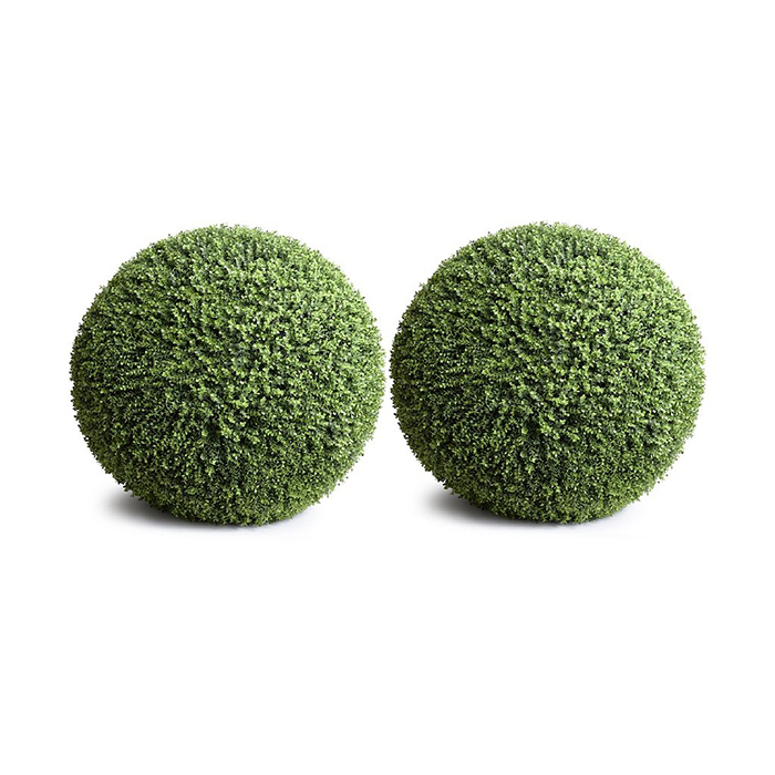 Enduraleaf 18 in Faux Boxwood Ball Set