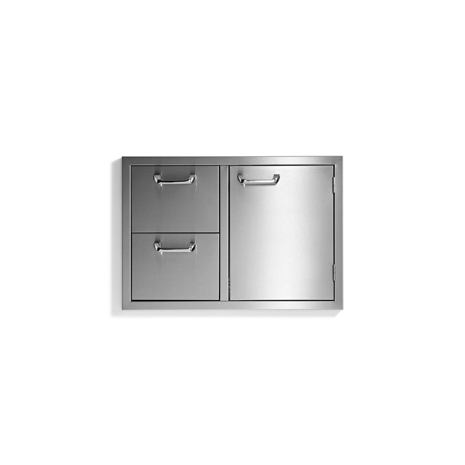 30in Sedona Double Drawer and Door Combo