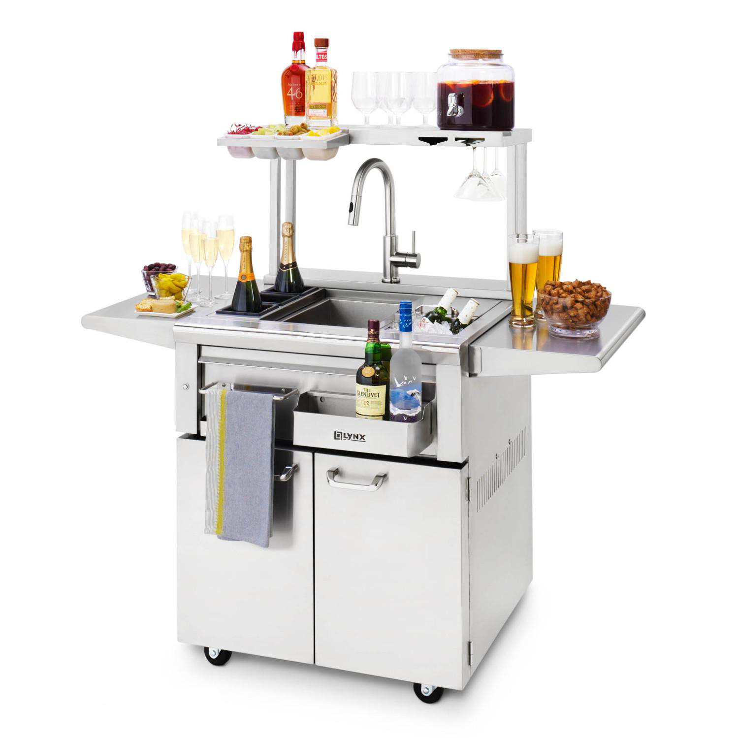 Freestanding Cocktail Station with Pass Shelf