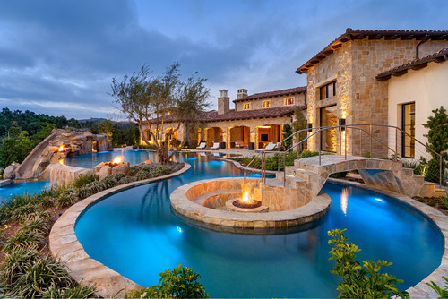 Wildflower Estate Mediterranean Pool, San Diego
