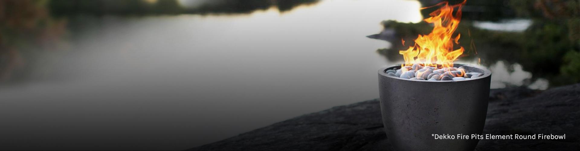 Dekko Fire Pits Element Round Firebowl