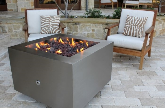 Bentintoshape 35in Square Fire Pit