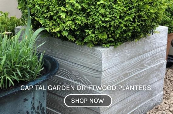 Capital Garden Driftwood Planters