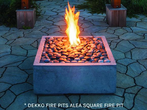 Dekko Fire Pits Alea Square Fire Pit