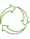 100% curbside recyclable; contains no heavy metals or carbon black.