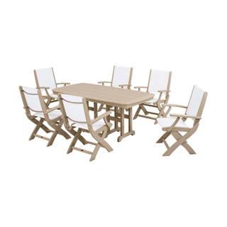 Polywood Coastal 6-Seat Rectangular Dining Set