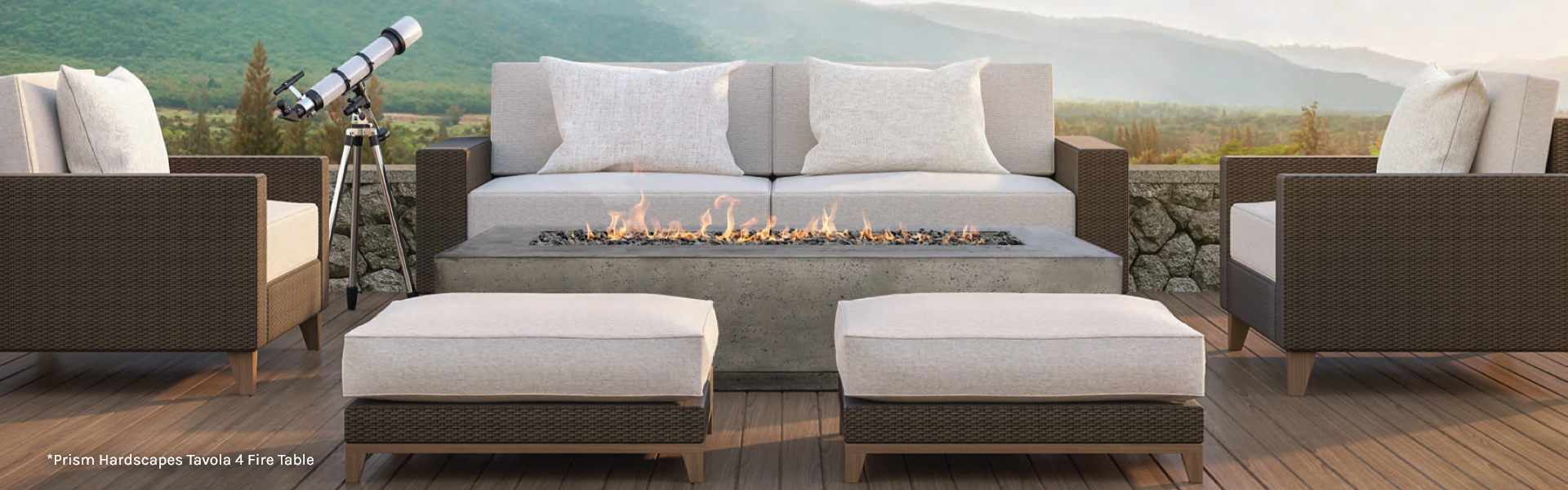 Prism Hardscapes Tavola 4 Fire Table