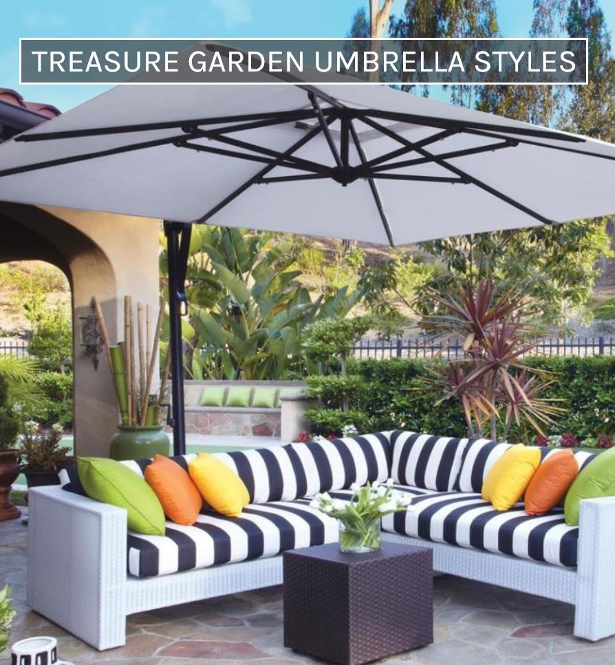Treasure Garden Umbrella Styles